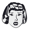 Sad Woman face with open mouth vector image