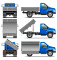 Lorry Icons Set 4 vector image