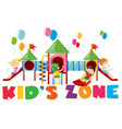 poster design with kids at playground vector image