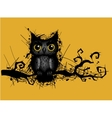 rough grungy owl vector image