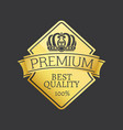100 quality premium exclusive choice golden label vector image vector image