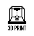 3d printing process in vector image vector image