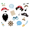 a colorful theme pirate equipments vector image