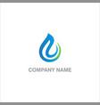 abstract water drop eco logo vector image vector image