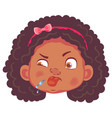 african girl character vector image vector image