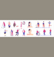 aging people flat set vector image vector image