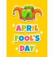 April Fool s day greeting card template vector image vector image