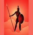 athena the goddess wisdom vector image vector image