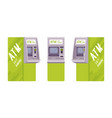 automated teller machine in a green color vector image