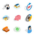 awareness icons set isometric style vector image vector image