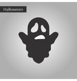 black and white style icon Halloween ghost vector image vector image