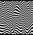 black and white wavy abstract background vector image