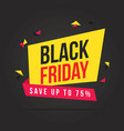 black friday sale theme background vector image