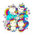 black line unicorn for coloring book or page cute vector image vector image