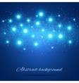 Blue Background with Lights vector image vector image