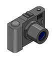 camera isometric colored drawing vector image