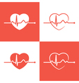 Cardiogram icons vector image vector image