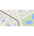city map with road vector image vector image