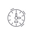 Clock line icon concept clock linear