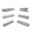 collection realistic construction metal beams vector image vector image