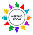 Colorful meeting room icon vector image vector image
