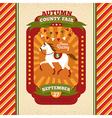 County fair vintage invitation card vector image vector image