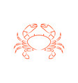 crab outline vector image vector image