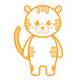 cute and tender tiger character vector image vector image