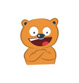 cute bear happy vector image
