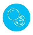 Donor sperm line icon vector image vector image