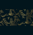 duck bird iris flower nature landscape view vector image vector image