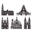 eastern europe isolated european buildings vector image vector image