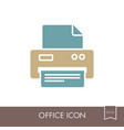 fax outline icon office sign vector image vector image