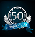 fifty years anniversary celebration design vector image vector image