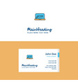 flat online shopping logo and visiting card vector image vector image