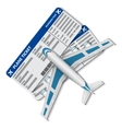 flight tickets with airplane vector image vector image