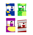 Food kiosk vector image vector image