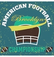 football brooklyn new york vector image vector image