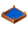 full wood box icon isometric style vector image vector image