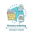 grocery ordering concept icon customer service vector image vector image