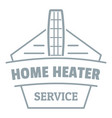 home heater logo simple gray style vector image vector image