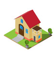 isometric twin house vector image vector image