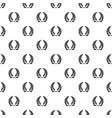 laurel wreath pattern seamless vector image vector image