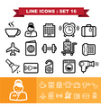 Line icons set 16 vector image vector image