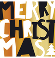 Merry Christmas Gold Greeting Card vector image vector image