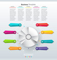 modern paper infographics in a pie chart for web vector image vector image