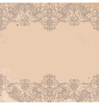 old worn texture with pattern border vector image vector image