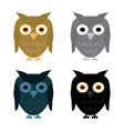 owl day night gray and halloween black owl vector image