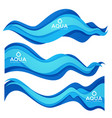Paper cut spring aqua flow design element for vector image