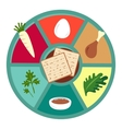 Passover seder flat icons vector image vector image